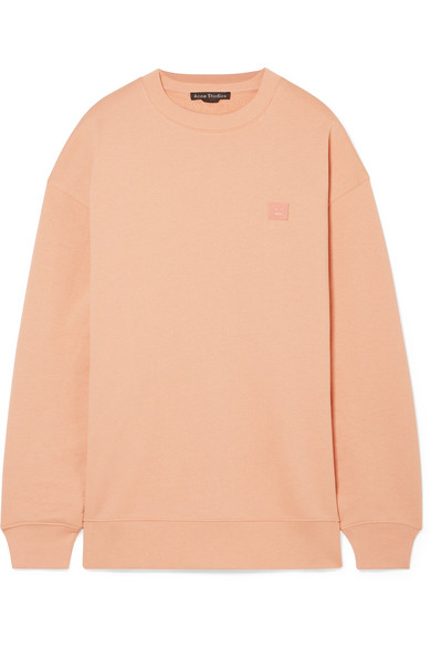 Forba Face Appliquéd Cotton-Jersey Sweatshirt in Blush from Liberty