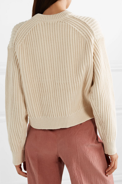 Acne Studios Knits Kassie ribbed cotton-blend sweater