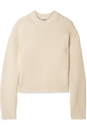 Acne Studios Kassie ribbed cotton-blend sweater