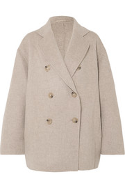 Odine double-breasted wool and cashmere-blend coat