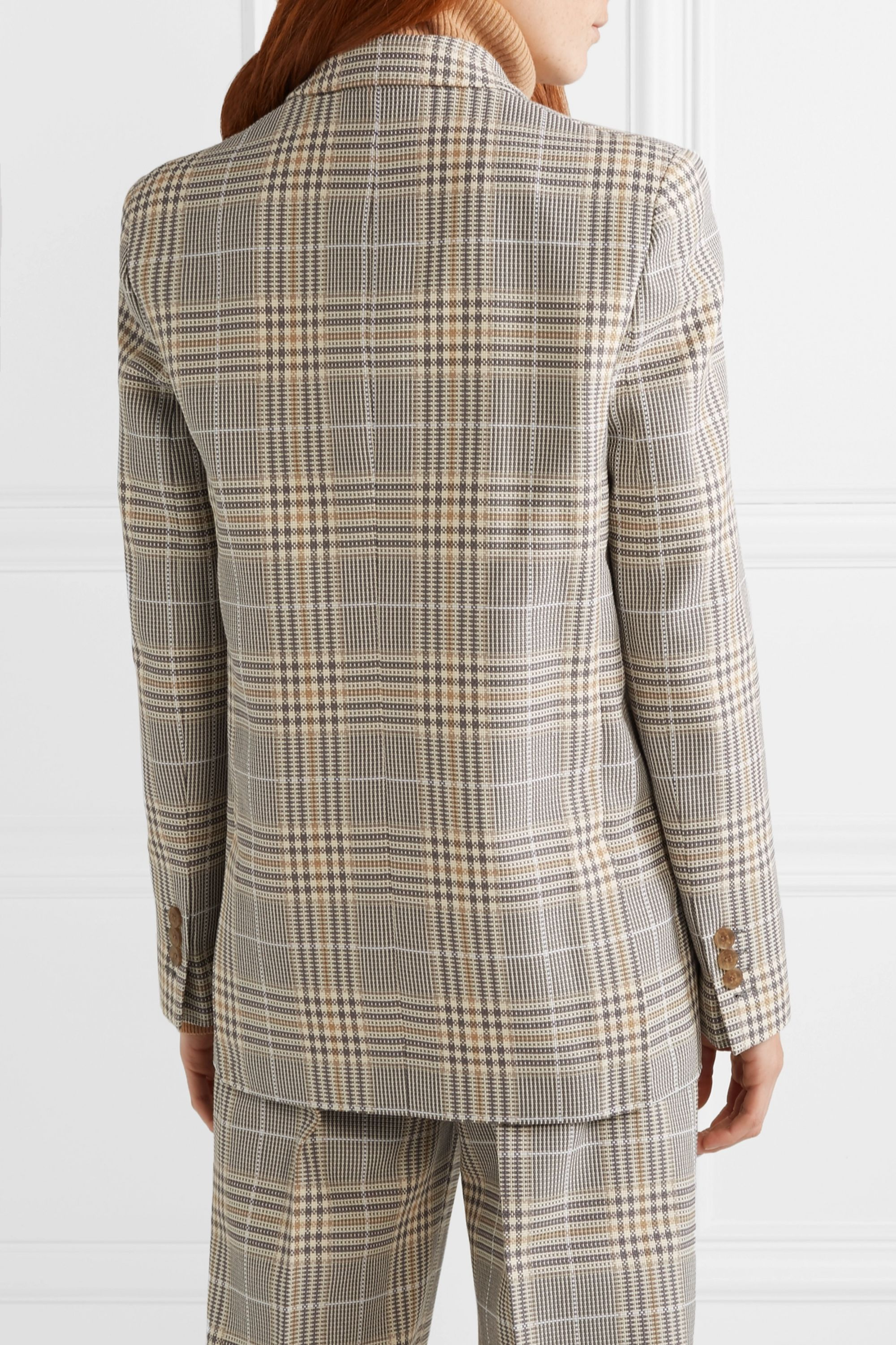 Acne Studios Jana checked cotton-blend blazer