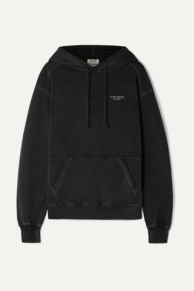 Weny Embroidered Cotton Jersey Hoodie by Acne Studios