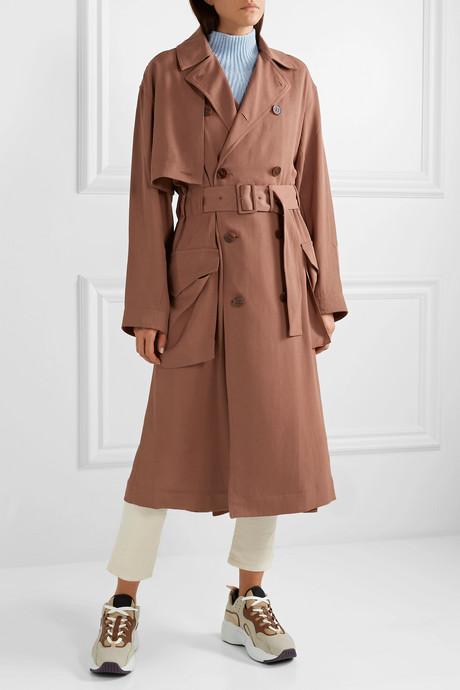 Olicia twill trench coat