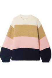 Acne Studios Kazia oversized striped knitted sweater