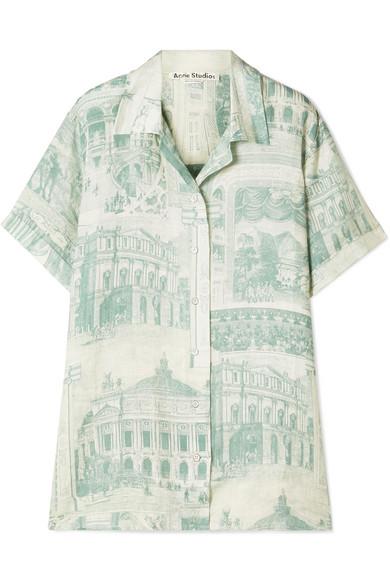 Rellah Printed Linen Shirt by Acne Studios