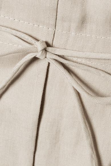 Acne Studios Pants Paoli pleated linen tapered pants