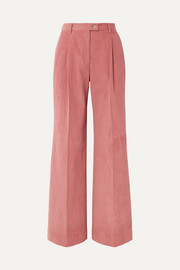 Pina cotton-blend corduroy wide-leg pants