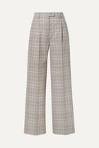 Acne Studios Pantalon large en coton mélangé à carreaux Pina 66061f22aaa6