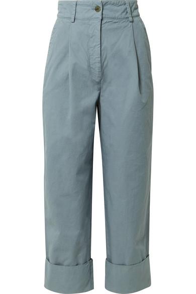 Acne Studios Pants Phaedra cropped cotton-twill straight-leg pants