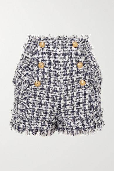 06ca44f8e4 Balmain   Short en tweed à boutons   NET-A-PORTER.COM