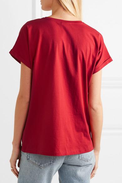Balmain Shirts Metallic appliquéd cotton-jersey T-shirt