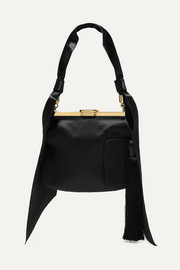 4 AM tasseled satin shoulder bag