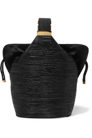 Kit mini satin-trimmed Lurex bucket bag