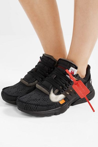 d2efaaaedb59f1 + Off-White Air Presto mesh and rubber sneakers