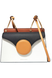 Phoebe mini textured-leather shoulder bag