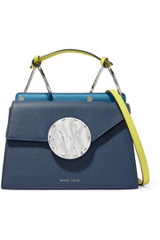 Danse Lente Phoebe Bis color-block textured-leather shoulder bag