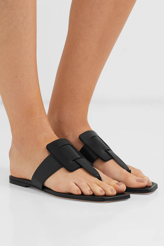 Black Viv' Sellier leather sandals