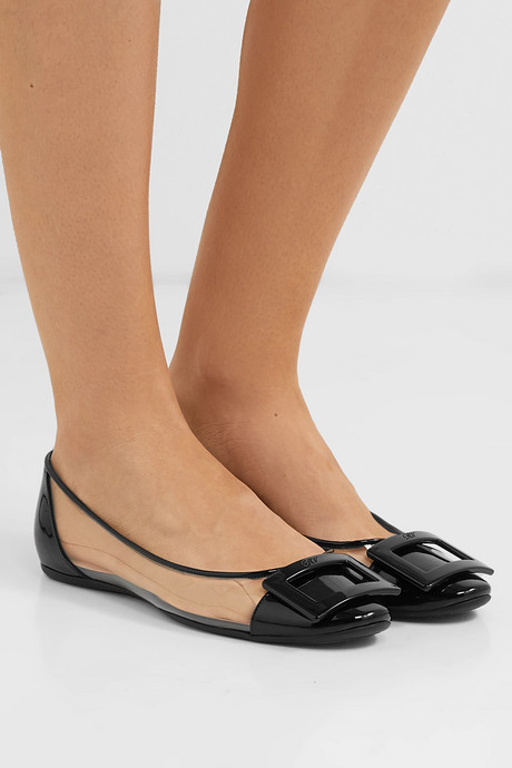 Gommette PVC and patent-leather ballet flats