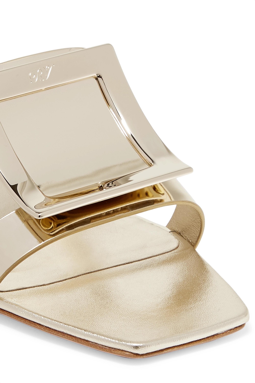 Roger Vivier Biki Viv' embellished metallic leather mules