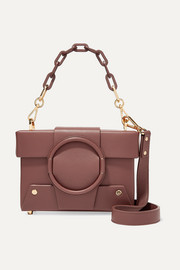 Asher small textured-leather shoulder bag