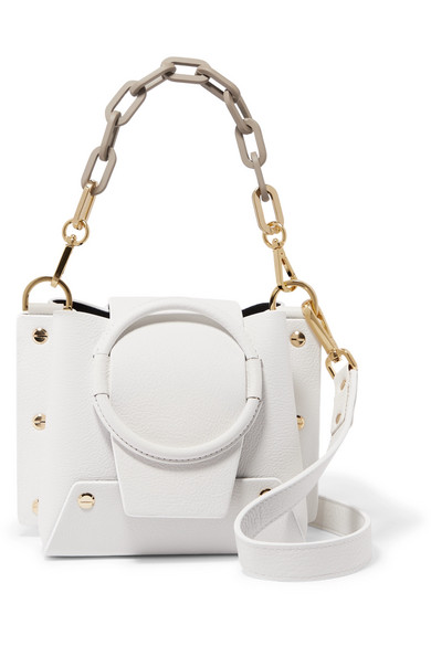 Delila Mini Textured Leather Shoulder Bag by Yuzefi