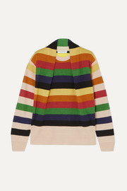 JW Anderson Ruched striped linen sweater