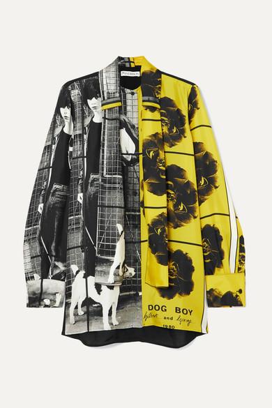 JW ANDERSON | JW Anderson - + Gilbert & George Printed Silk-twill Shirt - Gray | Goxip
