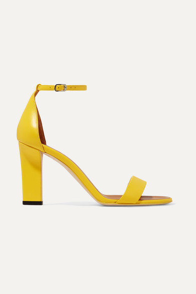 Anna Leather Sandals in Yellow