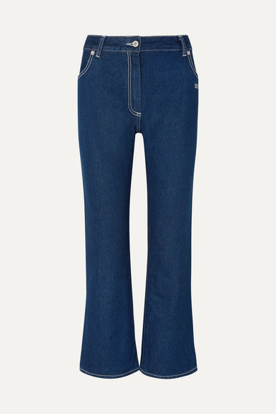 OFF-WHITE HIGH-RISE BOOTCUT JEANS