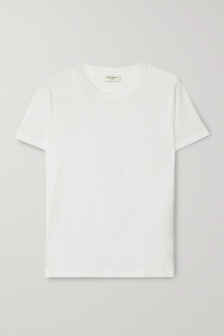 SAINT LAURENT Essentials appliquéd cotton-jersey T-shirt