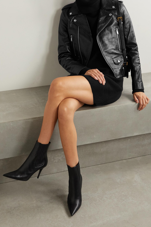 Black Leather Biker Jacket Saint Laurent Net A Porter