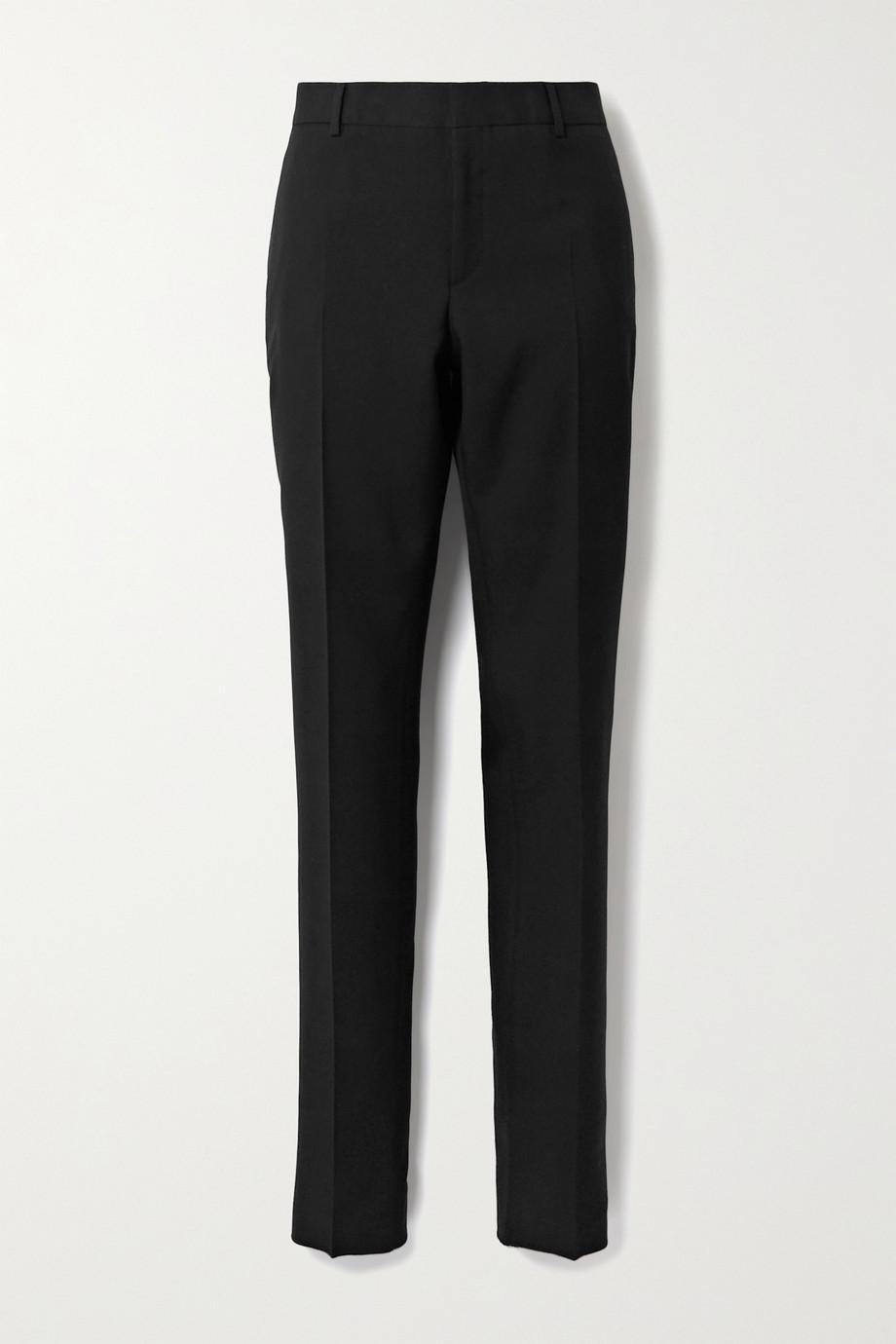 SAINT LAURENT Wool-gabardine slim-leg pants