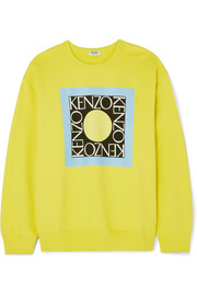 KENZO Comfort printed cotton-jersey sweater