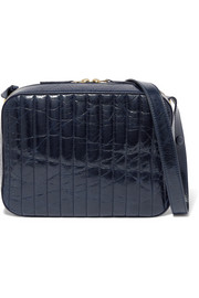 Victoria Beckham Quilted textured-leather camera bag