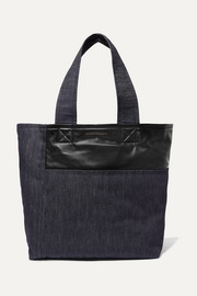 Victoria Beckham Sunday leather-trimmed denim tote