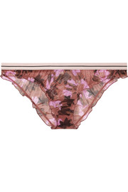 Love Stories Ivy floral-print stretch-tulle briefs