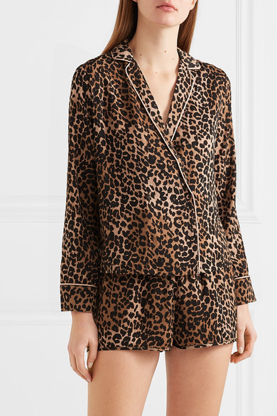 df640ff7 Love Stories | Vigo and Eddie leopard-print satin pajama set | NET-A ...