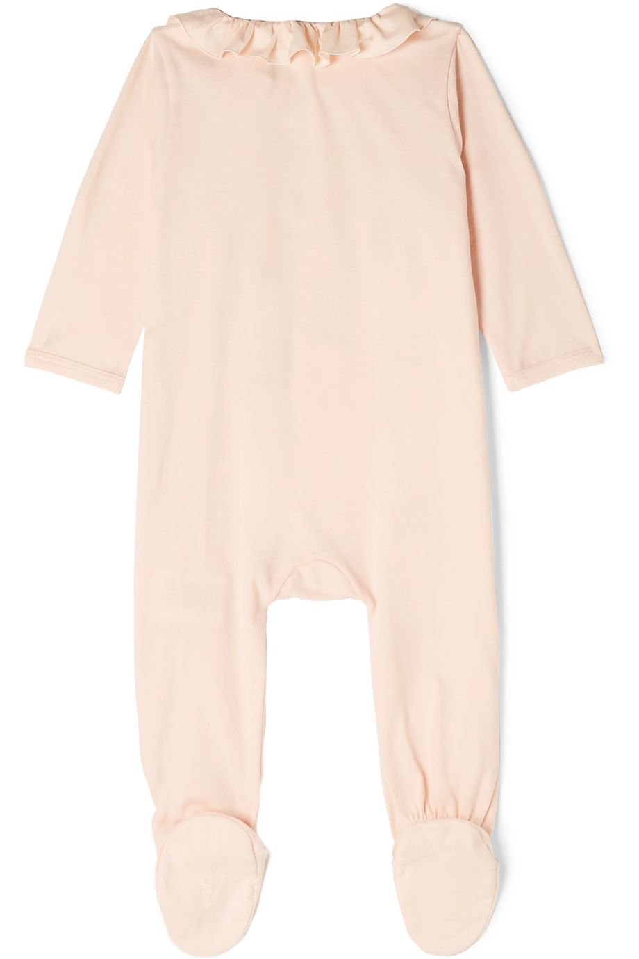 Chloé Kids Months 1-18 ruffled embroidered cotton-jersey onesie