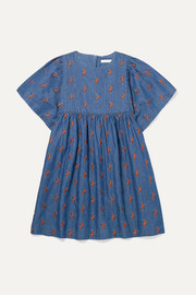 Ages 6 - 12 embroidered cotton-chambray dress