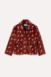 Ages 2 - 5 embroidered cotton-velvet blazer