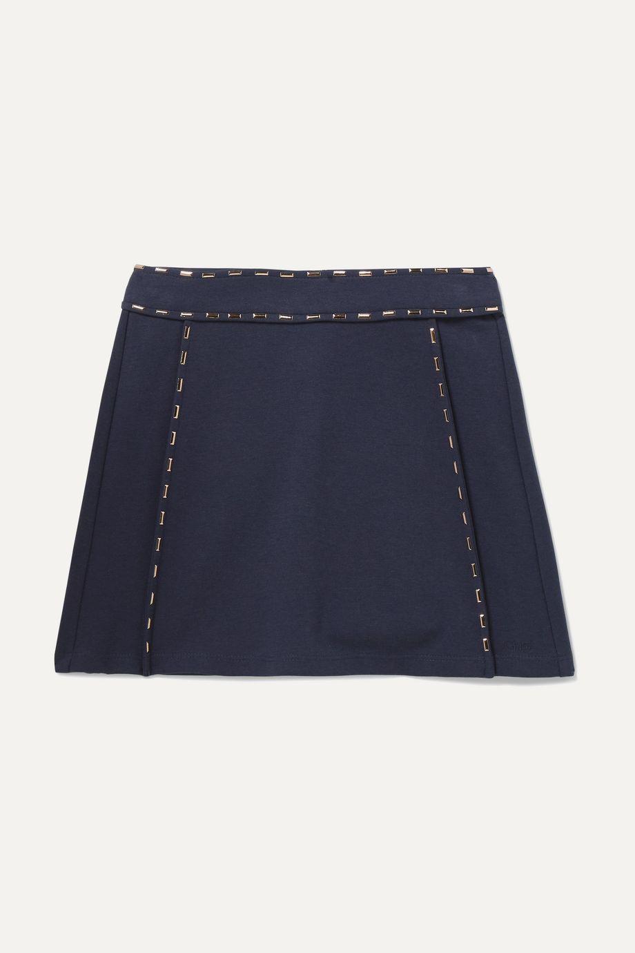 Chloé Kids Ages 6 - 12 embellished stretch-jersey skirt