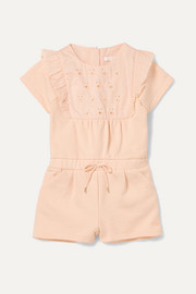 Chloé Kids Months 6 - 18 embroidered cotton-terry onesie