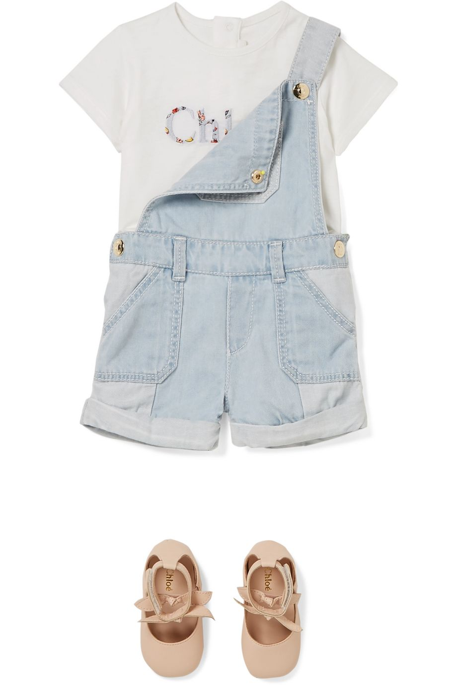 Chloé Kids Months 6 - 18 printed cotton and modal-blend T-shirt