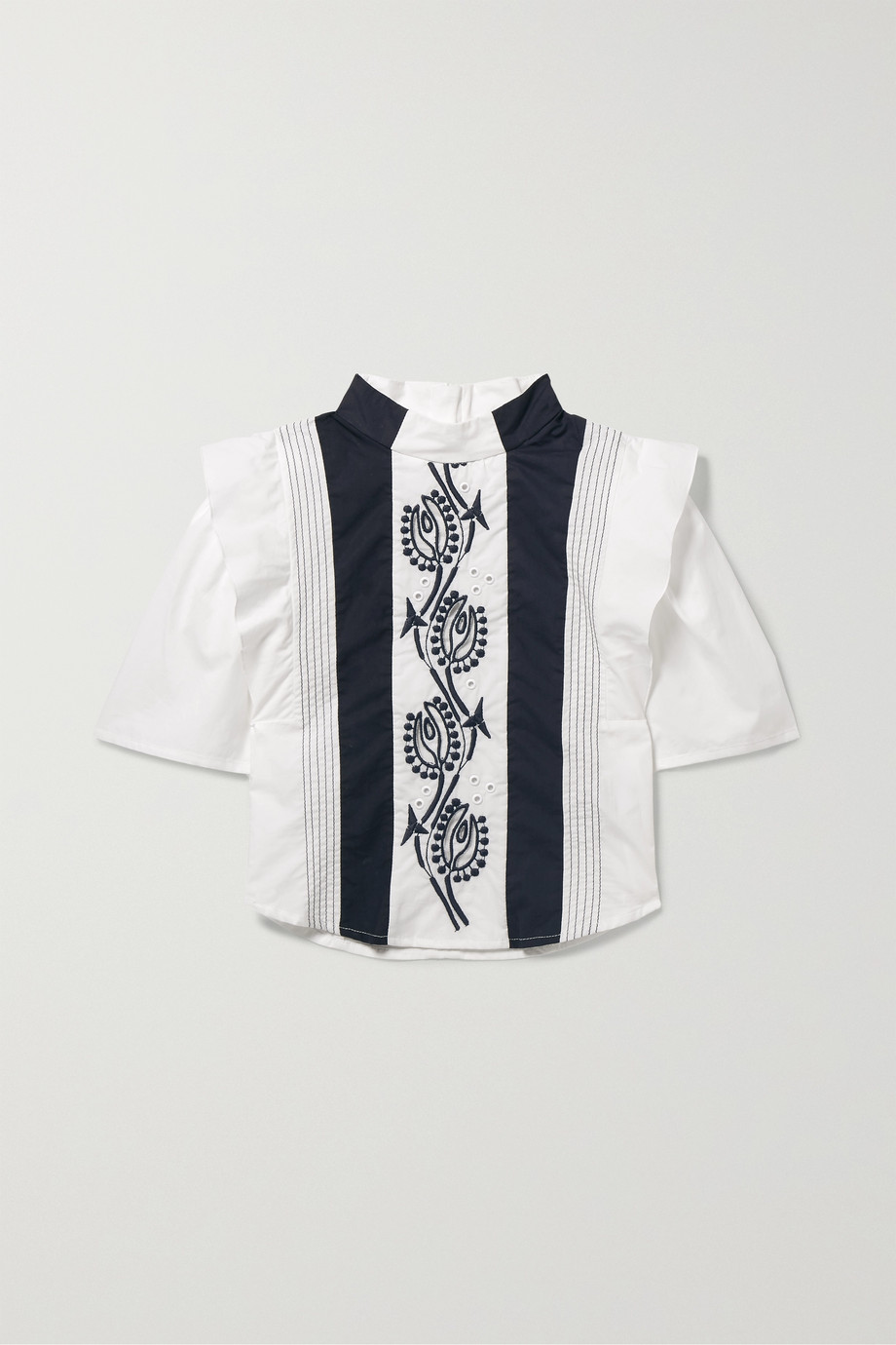 Chloé Kids Ages 2 - 5 embroidered cotton blouse