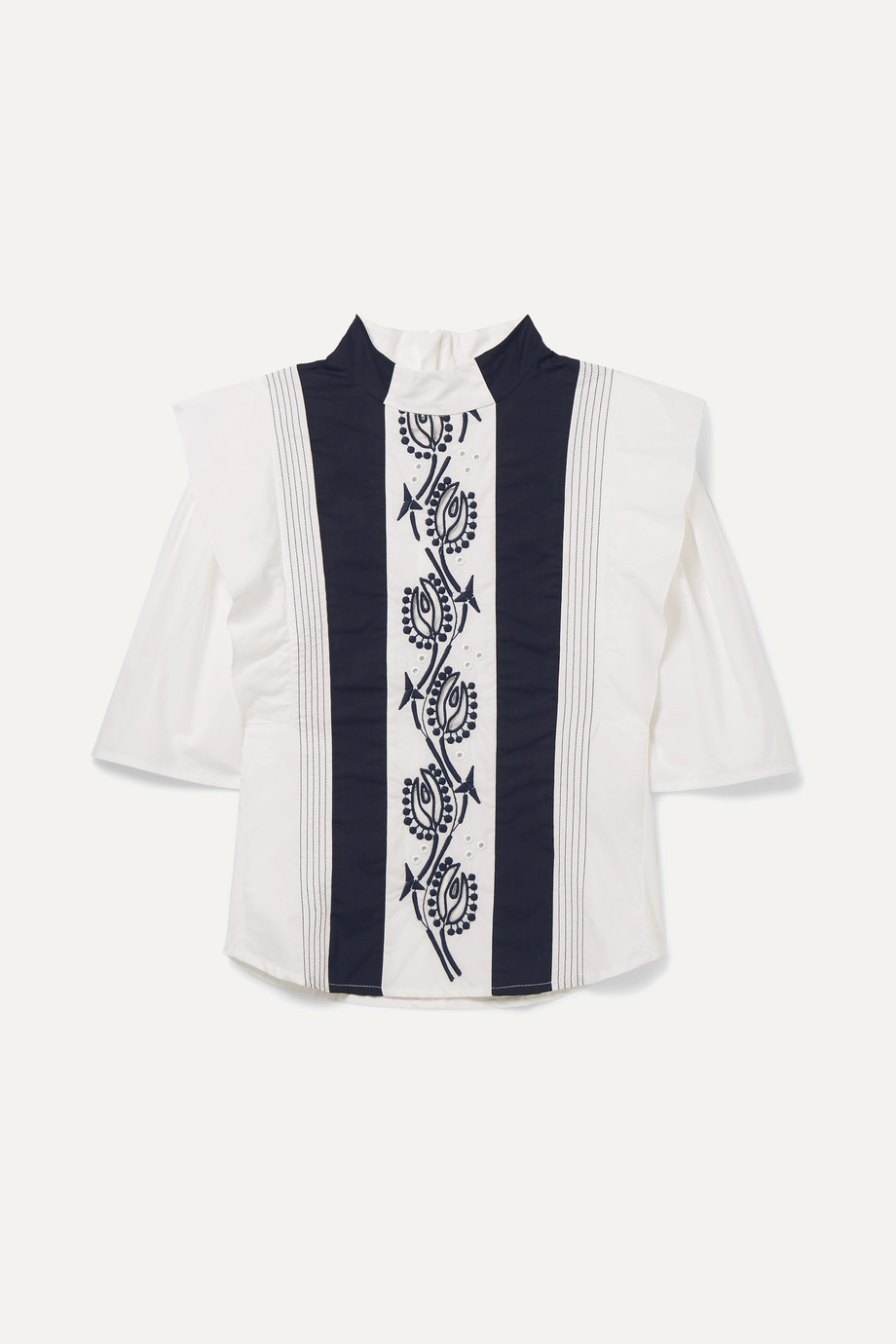 Chloé Kids Ages 6 - 12 embroidered cotton blouse