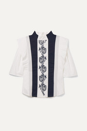 Ages 6 - 12 embroidered cotton blouse
