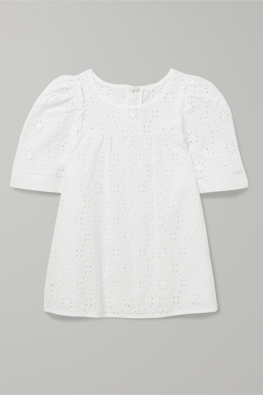 Chloé Kids Ages 2 - 5 broderie anglaise cotton top