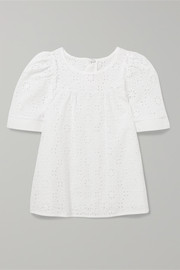 Ages 2 - 5 broderie anglaise cotton top