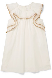 Chloé Kids Ages 2 - 5 metallic-trimmed cotton dress