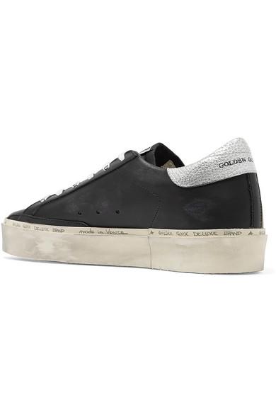 Golden Goose Sneakers Hi Star distressed leather sneakers